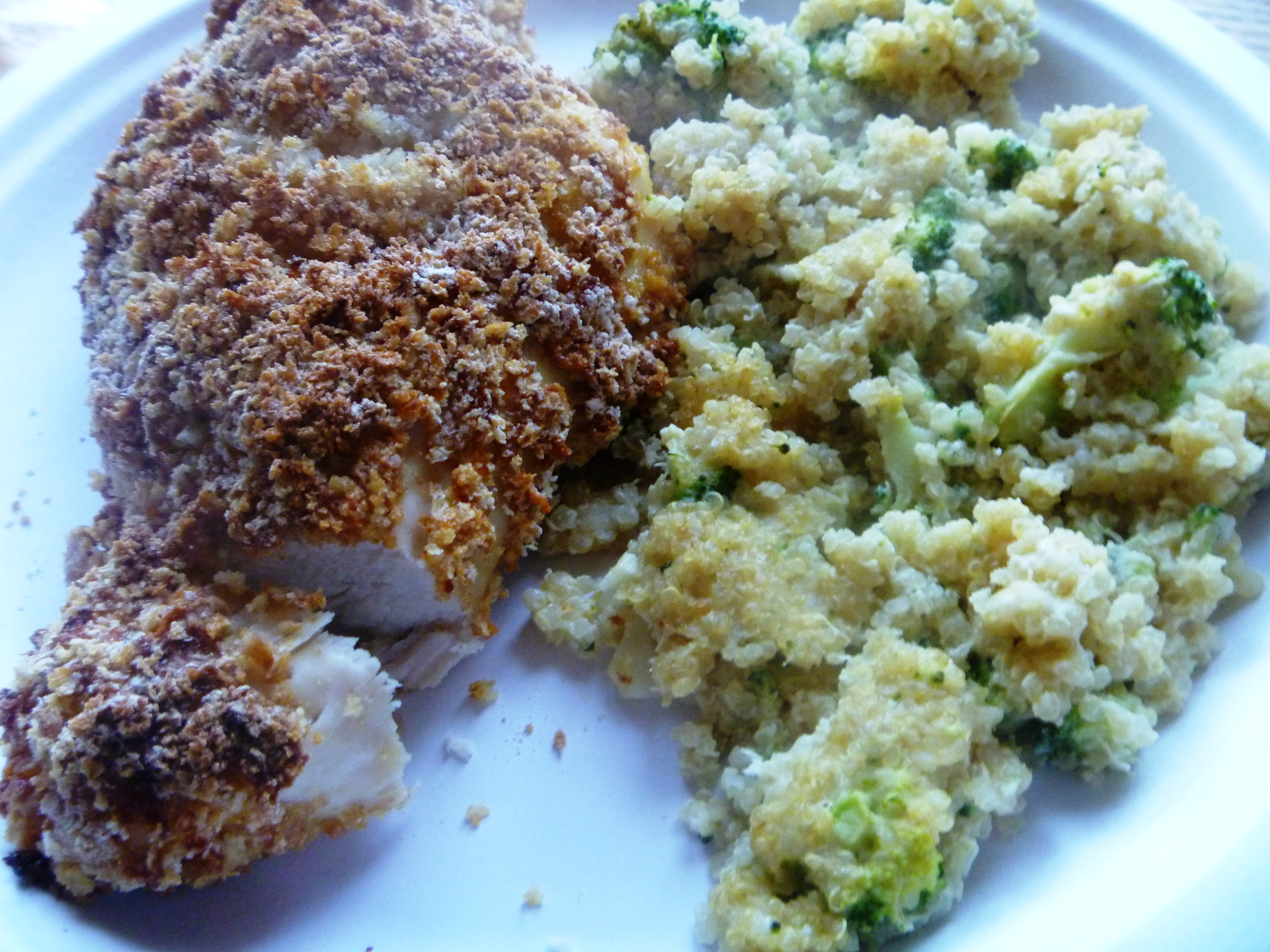Double-Dipped Oven-Fried Chicken And Broccoli Quinoa Casserole  Healthy Recipe Ecstasy-3968